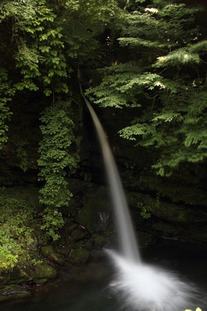 秩父三峯口ロープウェイの乗り場近くにある龍神の滝 夏
