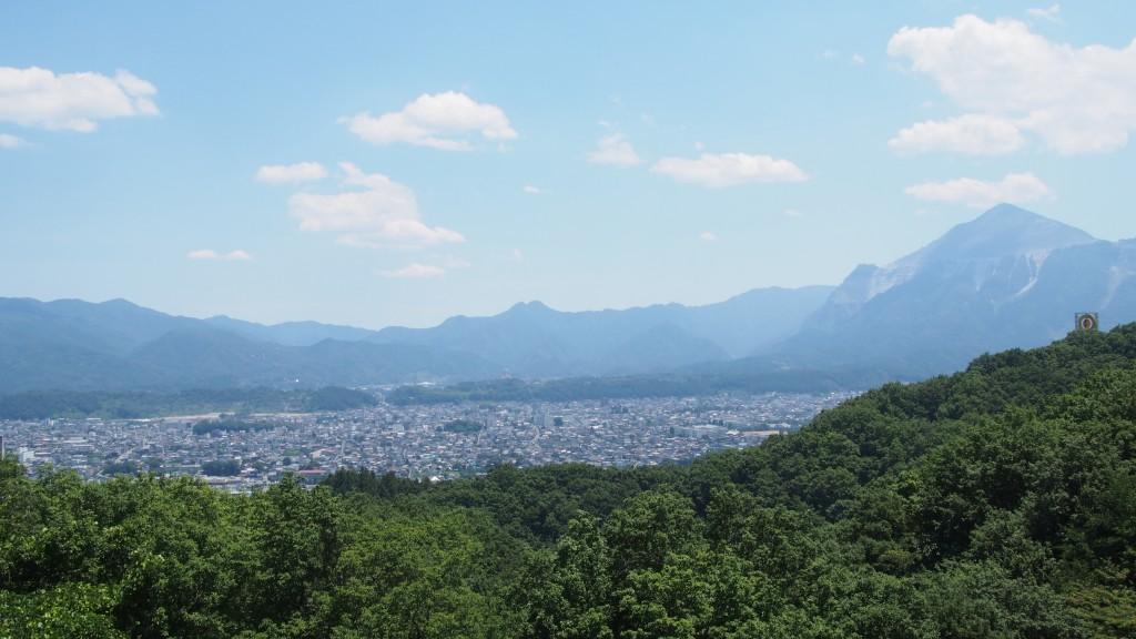 秩父市内の眺め