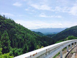 秩父のツーリングスポット日野沢からの眺め