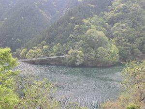 大滝 二瀬ダム 吊り橋