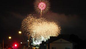 秩父公園橋から見た川瀬祭花火