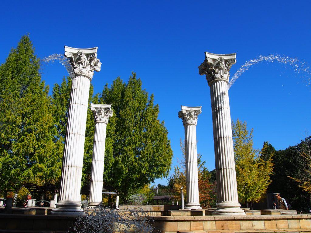 ミューズの泉の水しぶき