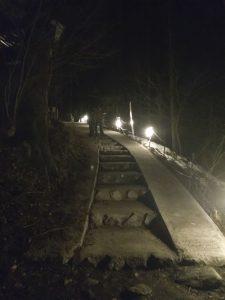 三十槌の氷柱 階段 秩父