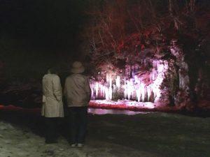 三十槌の氷柱つらら 見学