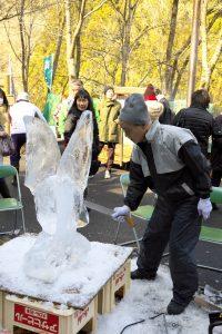 2017尾ノ内交流会 氷の彫刻作り