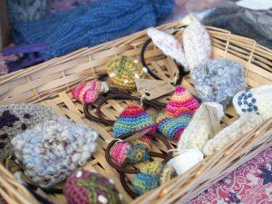アーチェロ市 編み物ヘアゴム
