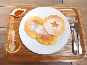 メープルベースのパンケーキ 3枚
