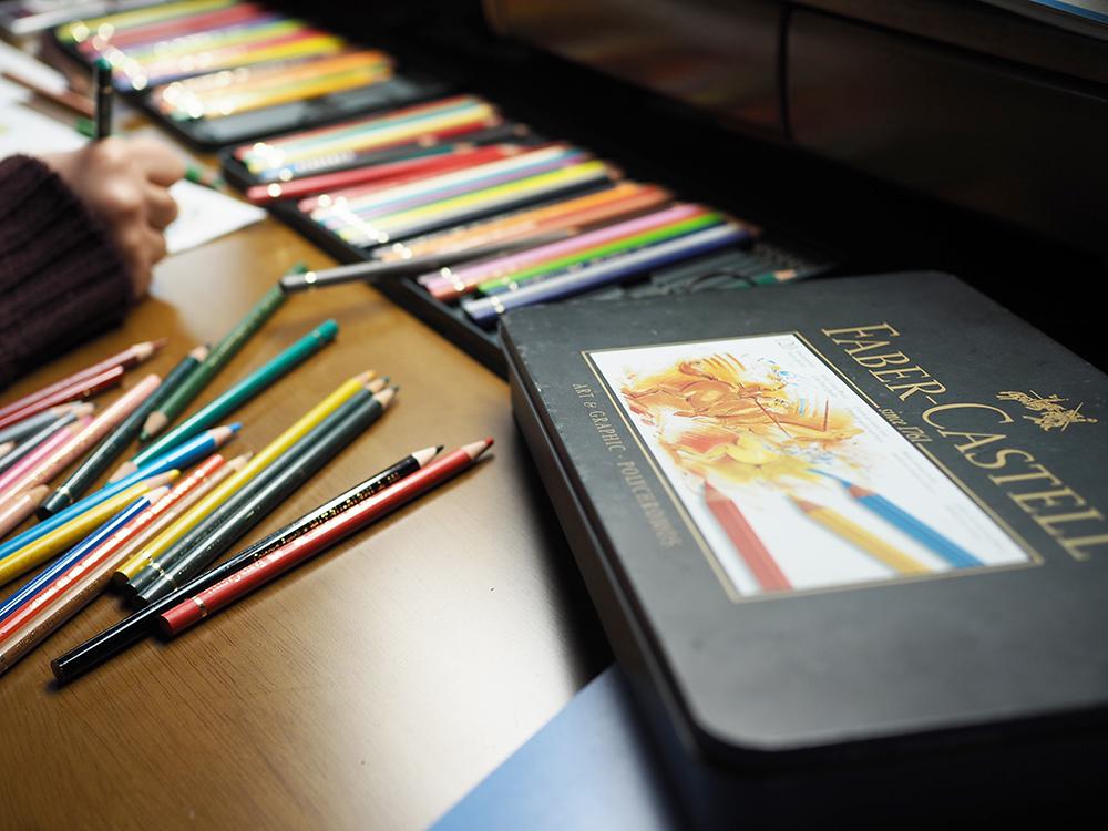絵本作家てる吉さん愛用色鉛筆