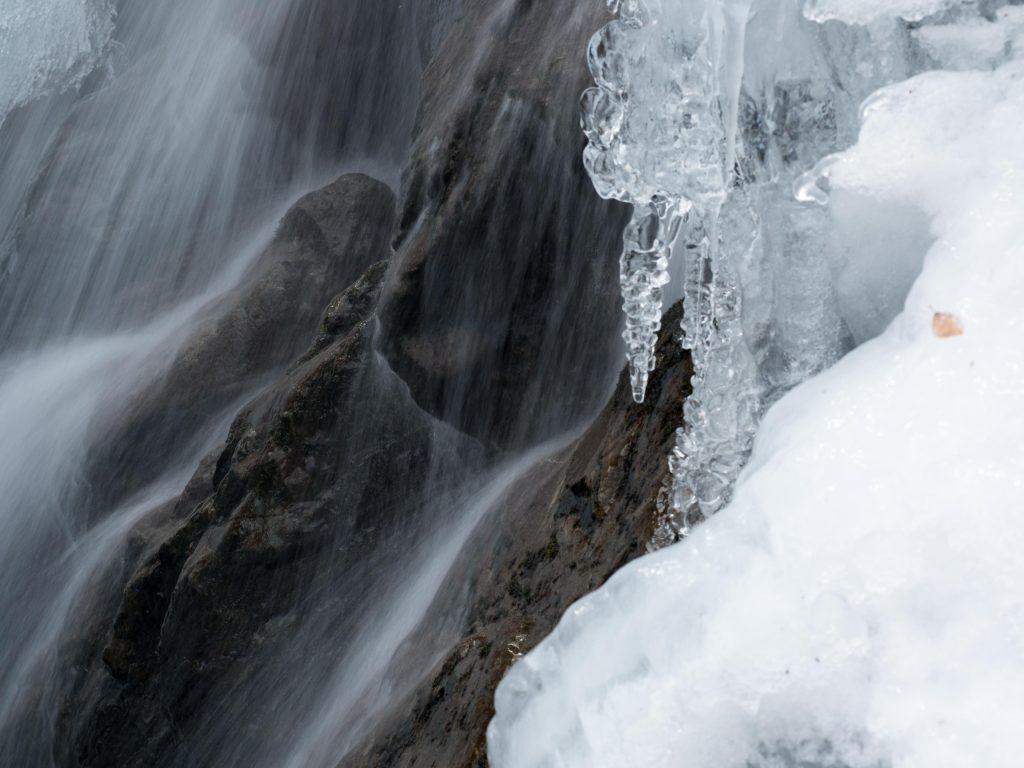 秩父丸神の滝 氷結の様子