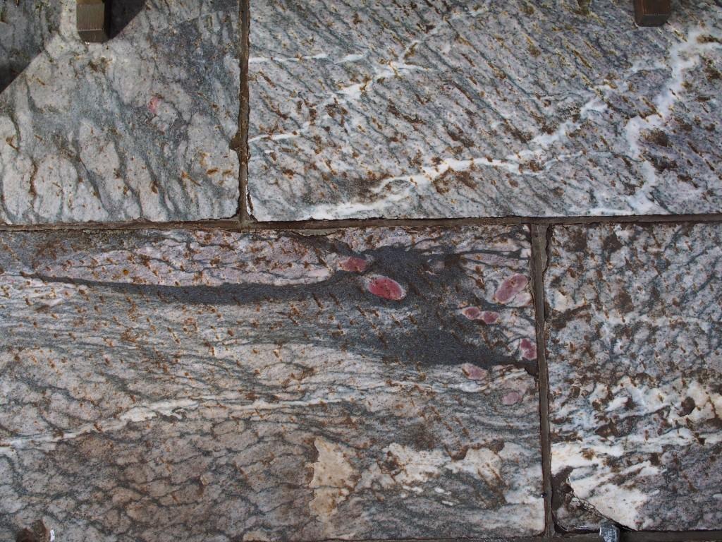三峰神社の水で浮き出る龍