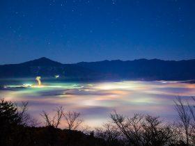 美の山雲海と夜景 11月 ちーぽん秩父