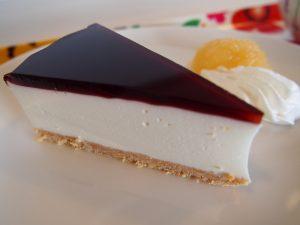 サンタカフェのレアチーズケーキ アップ