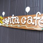 サンタカフェの可愛い看板