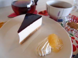 サンタカフェのレアチーズケーキ