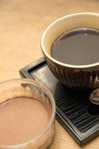 鮨忠のランチメニュー デザートとコーヒー